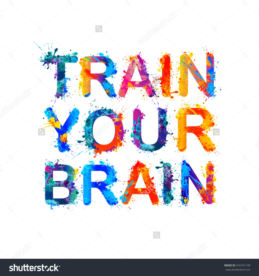 stock-vector--train-your-brain-rainbow-splash-paint-quote-416741149