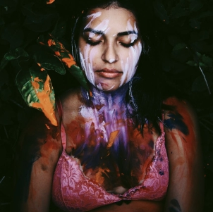woman with paint on her body